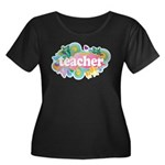 Cute Retro Teacher Women's Plus Size Scoop Neck Da