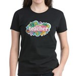 Cute Retro Teacher Women's Dark T-Shirt