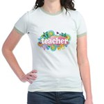 Cute Retro Teacher Jr. Ringer T-Shirt