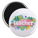 Cute Retro Teacher Magnet