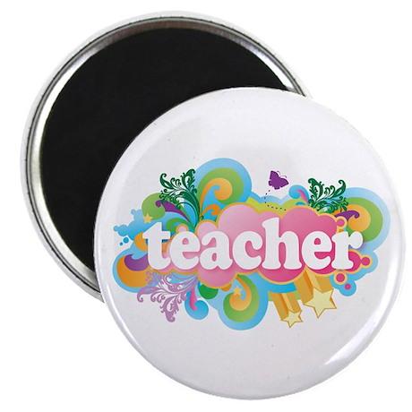 Cute Retro Teacher Magnet