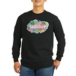 Cute Retro Teacher Long Sleeve Dark T-Shirt