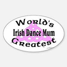 Greatest Mum - Oval Decal