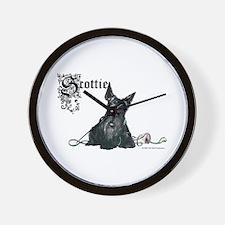 Celtic Scottish Terrier Wall Clock