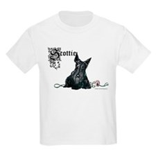Celtic Scottish Terrier Kids T-Shirt