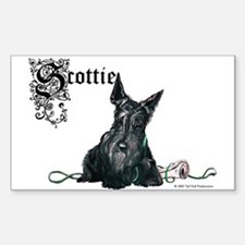 Celtic Scottish Terrier Rectangle Decal