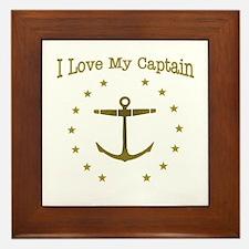 I Love My Captain: Framed Tile