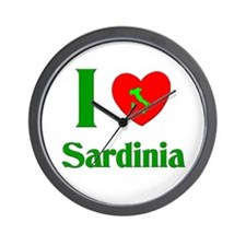 I Love Sardinia Wall Clock