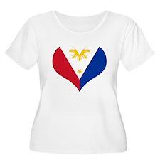 Filipino Heart Flag T-Shirt