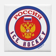 RU Russia/Rossiya Hockey Tile Coaster