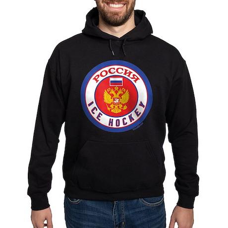 RU Russia/Rossiya Hockey Hoodie (dark)