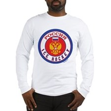 RU Russia/Rossiya Hockey Long Sleeve T-Shirt
