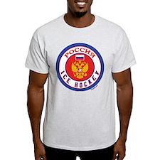RU Russia/Rossiya Hockey T-Shirt