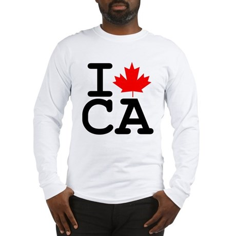 I Maple Leaf Canada Long Sleeve T-Shirt