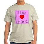 I Love My Family Ash Grey T-Shirt