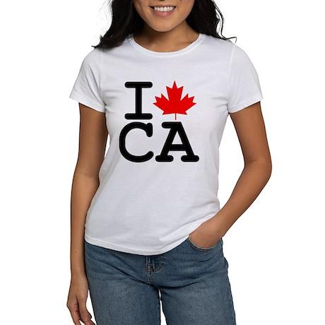 I Maple Leaf Canada Women's T-Shirt