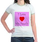 I Love My Family Jr. Ringer T-Shirt