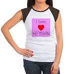 I Love My Family Women's Cap Sleeve T-Shirt