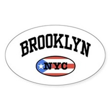 Brooklyn NYC Puerto Rican Oval Decal