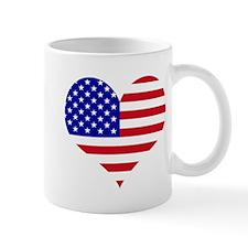 USA Heart Flag Mug