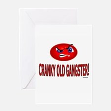 Cranky Old Gangster Greeting Card
