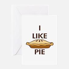 I Like Pie Greeting Card