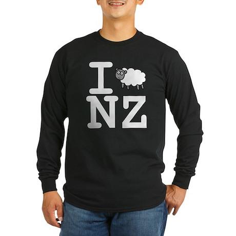I Sheep NZ Long Sleeve Dark T-Shirt