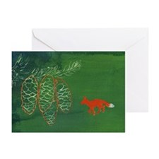 Pinecone Fox Holiday Cards Large (Pk of 10)