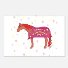 Happy Valentine Horse Postcards (Package of 8)
