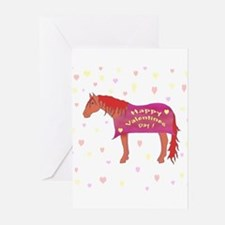 Happy Valentine Horse Greeting Cards (Pk of 10
