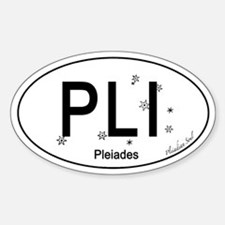 Pleiades Oval Car Decal
