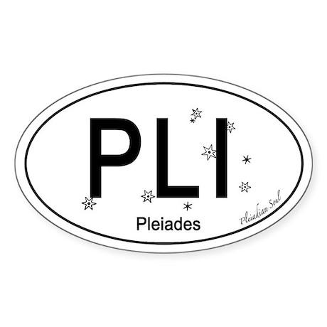 Pleiades Oval Car Sticker