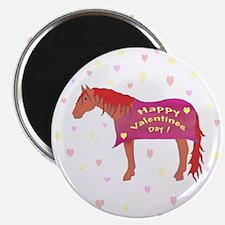 Happy Valentine Horse Magnet