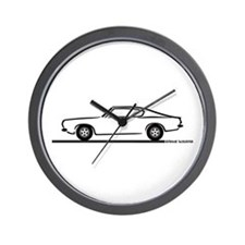 1968 Plymouth Barracuda Wall Clock