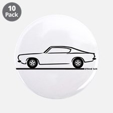 "1968 Plymouth Barracuda 3.5"" Button (10 pack)"