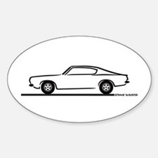 1968 Plymouth Barracuda Oval Decal