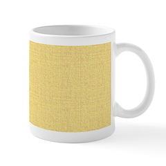 Yellow Linen Look Mug
