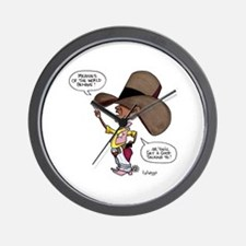 Meanies of the World Behave! Wall Clock