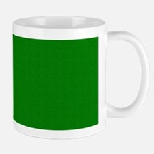 Dark Green Linen Look Mug