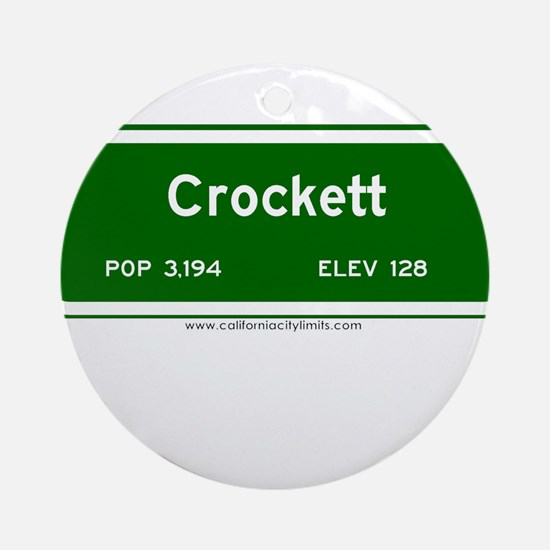 Crockett Ornament (Round)