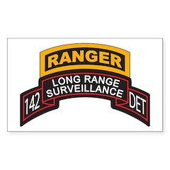 142 Long Range Surveillance D Rectangle Decal