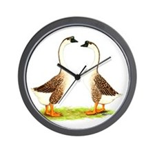 Chinese Goose Brown Wall Clock