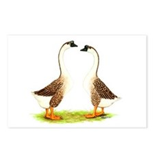Chinese Goose Brown Postcards (Package of 8)