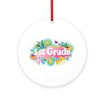 1st Grade Retro Ornament (Round)