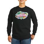 1st Grade Retro Long Sleeve Dark T-Shirt