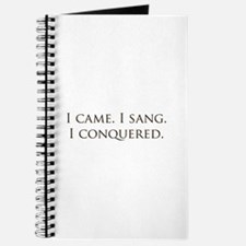I came, I sang, I conquered Journal