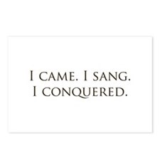 I came, I sang, I conquered Postcards (Package of
