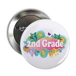 "2nd Grade Retro 2.25"" Button (10 pack)"