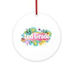 2nd Grade Retro Ornament (Round)