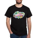 2nd Grade Retro Dark T-Shirt